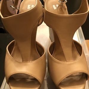 BP Wedge Shoes, Nude